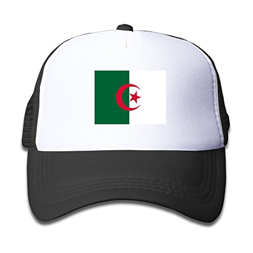 cheap Futong Huaxia Flag Of Algeria Boy & Girl Grid Baseball Caps Adjustable sunshade Hat For Children for sale