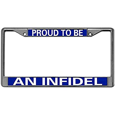 INFIDEL License Plate Frame