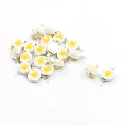Uxcell 2 Terminal SMD Warm LED Light Emitter Bulb, 1W, 3V - 3.2V, White
