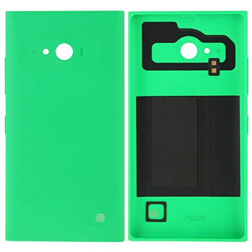 HUANGMENG Solid Color Plastic Battery Back Cover for Nokia Lumia 730(Black),Nokia Phone Back Cover (Color : Green) (Lumia 730 Best Price)