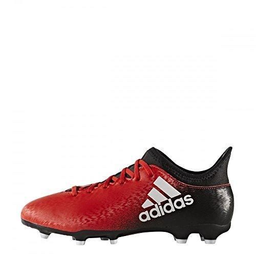 adidas X 16.3 FG J - Botas de fútbol para niños, Rojo - (ROJO/FTWBLA/NEGBAS), -33