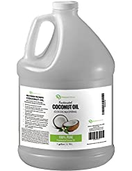 Fractionated Coconut Oil Massage Oils - Liquid MCT Natural & Pure Body Oil Carrier Massage Oil - for Hair & Skin 1 Gallon Value Size Clear Premium Nature
