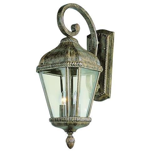 Trans Globe Lighting 5150 BRT Outdoor Covington 22.5u0026quot; Wall Lantern,  Burnished Rust