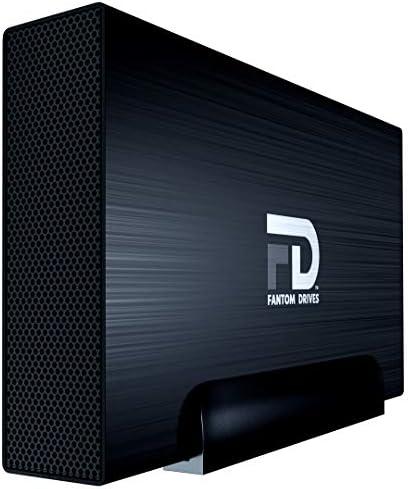 FD 8TB External Hard Drive - USB 3.2 Gen 1 - 5Gbps & eSATA - GForce 3 Aluminum - Black - Compatible with Mac/Windows/PS4/Xbox (GF3B8000EU) by Fantom Drives