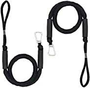 Bungee Dock Lines for Boat Shock Absorb Dock Tie Mooring Rope with Hook Boat Accessories 4-5.5 ft Black 2
