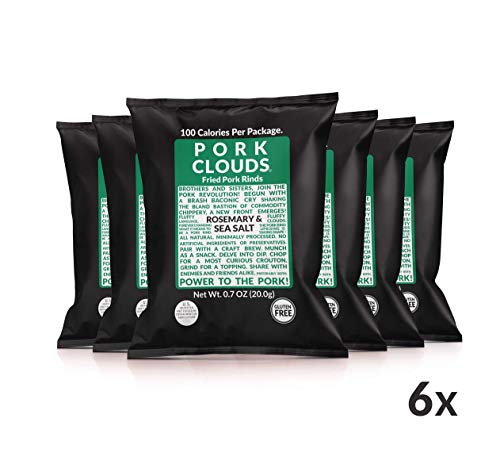 Pork Clouds - 6 Pack (Rosemary & Sea Salt Pork Rinds)