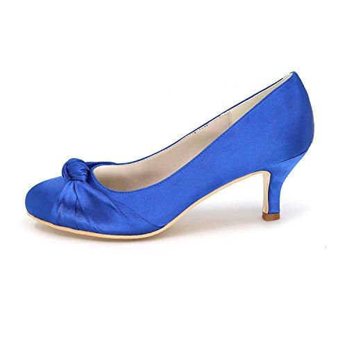 L@YC Frauen High Heels Bequeme Hochzeit Sommer Herbst Seide / abend Party Hochzeit Schuhe Purple