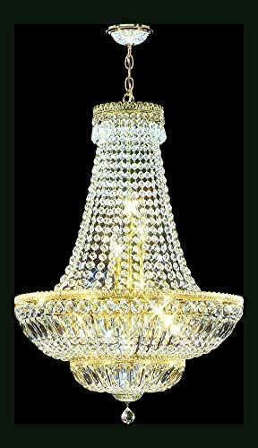 Imperial Empire Chandelier in Royal Gold Finish