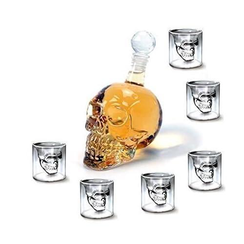 SHINA - Juego de botella y vasos de chupito (6 unidades, 750 ml)