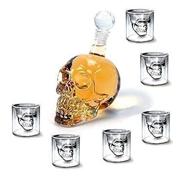 Shina 750 ml + 6 pièces Doomed Skull Shot Glass crâne tête de mort ...