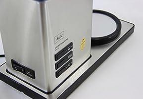 Aroma Signature DeLuxe Funci/ón temporizador y conservaci/ón de temperatura Negro 1007-02 Melitta Cafetera de filtro con jarra de vidrio