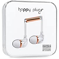 Happy Plugs Carrara In-Ear Headphone, White Marble (7782)