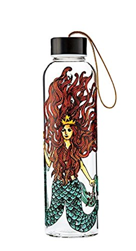 Starbucks Siren Glass Water Bottle with Nylon Strap