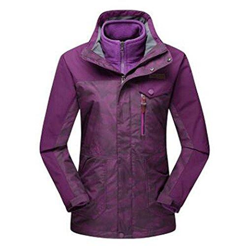 Wu Felpa Camouflage Calda Lai Tripla Outdoor Traspirante E Donna Wear Mountain Impermeabile Viola Giacche rPrWwF7qx6