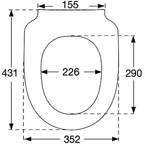 pressalit 300plus wc sitz wei mit absenkautomatik f r keramag icon und 4u scharnierabstand 155. Black Bedroom Furniture Sets. Home Design Ideas