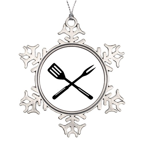 Dobend Ideas For Decorating Christmas Trees BBQ - Barbecue Steel Snowflake (Bbq Decorating Ideas)