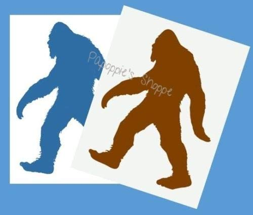 OutletBestSelling Stencil Sasquatch Big Foot Beast Forest Yeti Crafts Signs DIY Canvas Pillows 5'' Tall by 3.8'' Wide by OutletBestSelling