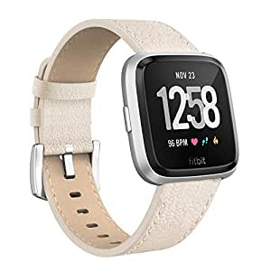 Amazon.com : SWEES Leather Bands Compatible Fitbit Versa