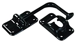 JR Products 10625 Angled T-style Black Door Holder