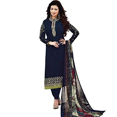 Designer Wedding Embroidered Georgette Salwar Kameez Suit Indian Dress
