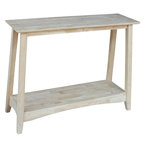 Unfinished Console Table - International Concepts OT-4S Bombay Sofa Table, Unfinished