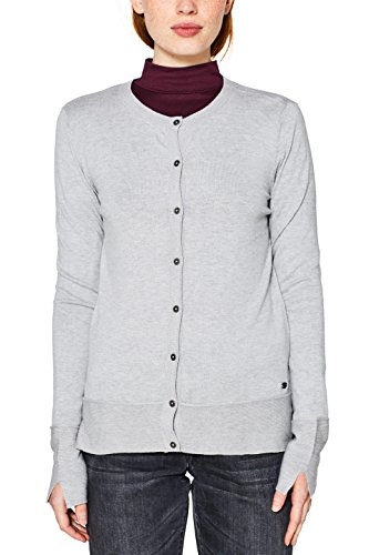 edc by Esprit, Cardigan Donna Grigio (Light Grey 040)