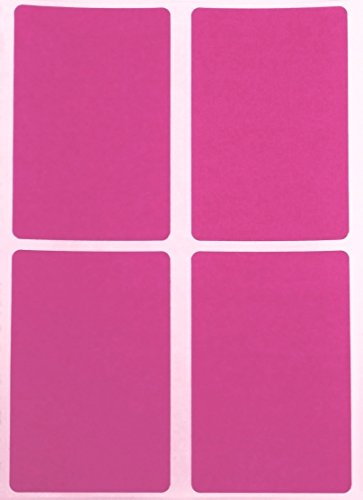Royal Green Name tag Stickers Pink Labels Colored Sticker in Rectangular Shape 3x2-60 Pack