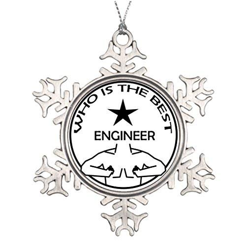 Acove Ideas for Decorating Christmas Trees Who is The Best Engineer Snowflake Christmas Snowflake Ornaments 3 inch