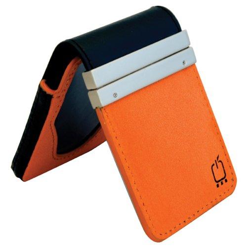 Fruwt Twist 2-in-1 Premium Leather Case for iPod nano 3G (Black and Orange)