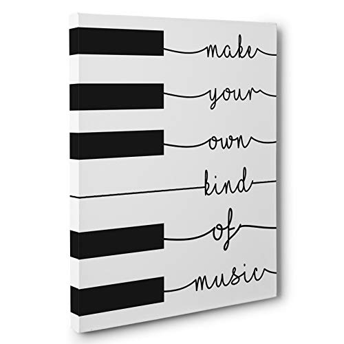 Make Your Own Kind Of Music Piano Motivational Canvas Wall Art