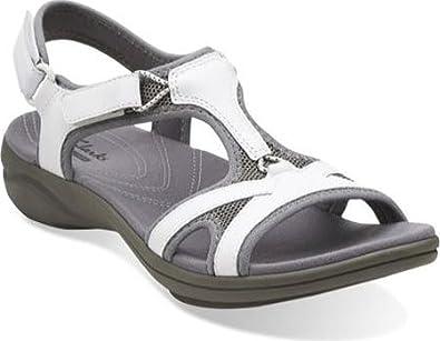 amazon clarks white sandals