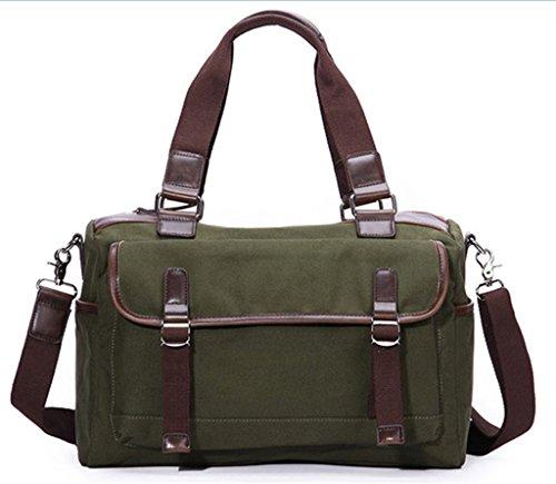 Green Top Tote Bagtopia Hobo Stripes Army Handle Crossbody Handbags Women Block Vintage Shoulder Canvas Bags nrq0R6qzw