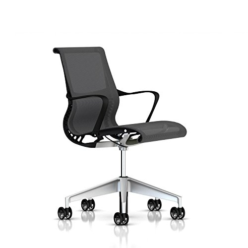 Herman Miller Setu Chair: Ribbon Arms - Translucent Casters