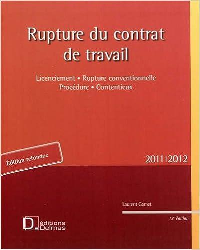 Livres gratuits Rupture contrat travail : Licenciement, Rupture conventionnelle, Procédure, Contentieux epub pdf