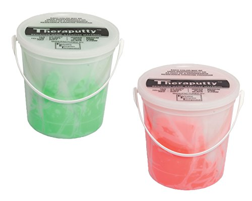 TheraPutty Standard Exercise Putty Red - Soft, Green - Medium 5 LB Each - Bundle by Theraputty