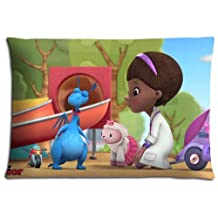 """16x24 16""""x24"""" 40x60cm throw pillow protector case Polyester Cotton Colorful attractive Doc McStuffins"""