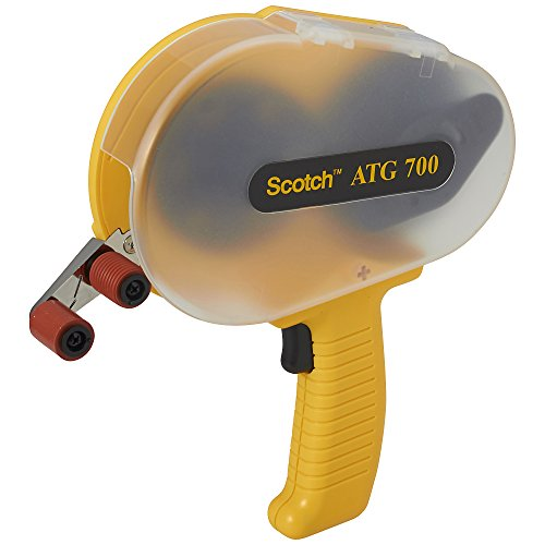Scotch ATG 700 Adhesive Applicator, Dispenses 1/2 in and 3/4 in wide ATG rolls from Scotch