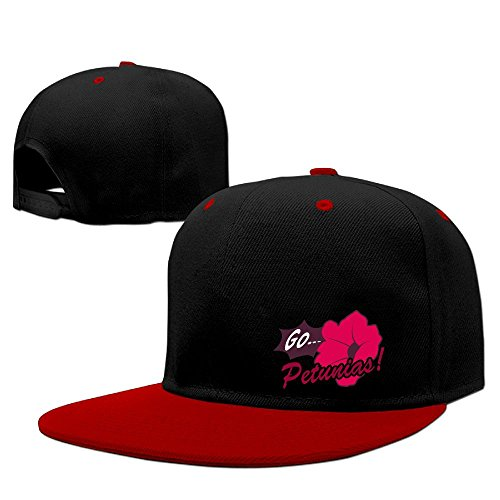 Guangzhou Unisex Go. Petunias Men's&Women's Cotton Denim Baseball Cap Adjustable Snapback Hip Hop Cap Hats Red