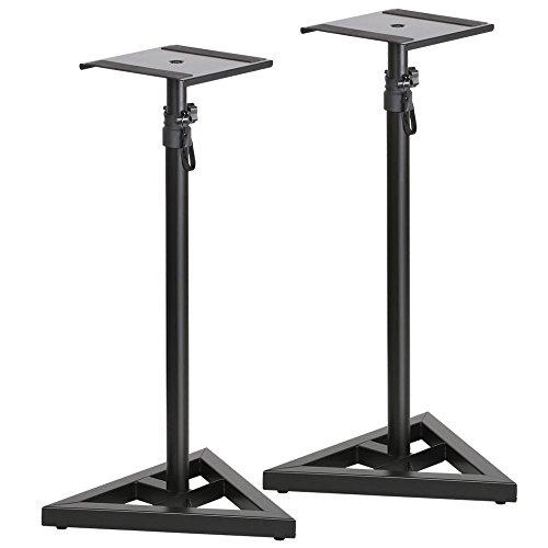 new-black-set-of-2-speaker-stand-pair-adjustable-height-monitor-studio-speaker-concert-band-stage-dj