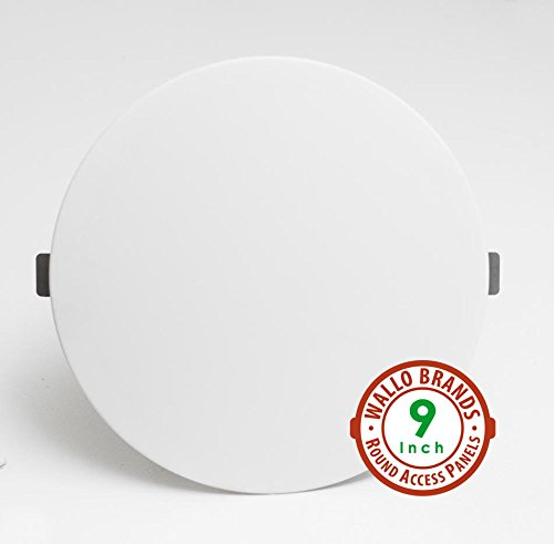 Round Panel (Wallo APR-0901 Round Access Panel, 9-Inch Speaker Hole Cover for Drywall Walls and Ceilings. Perfect for providing service area for Plumbing/Wiring Applications and Electrical Access)