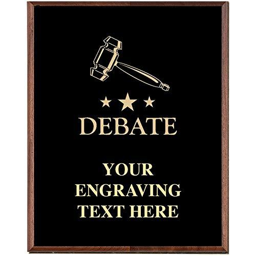 Gavel Plaques, Custom Engraved Debate Team Trophy Plaque Award, Great Customizable Debate Team Awards Prime
