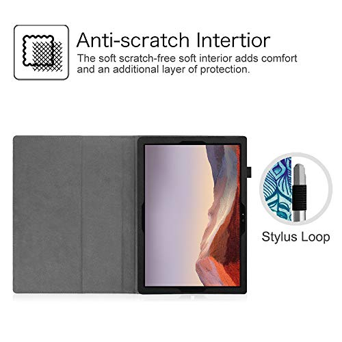 Fintie Case for Surface Pro 7 / Pro 6 - Premium Vegan Leather Slim Fit Folio Cover with Stylus Holder, Compatible with Microsoft Surface Pro 5 / Pro 4 / Pro 3 and Type Cover Keyboard (E-Illusions)
