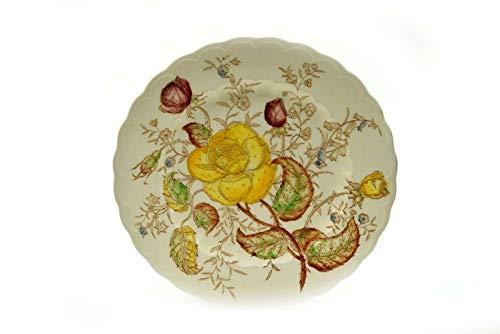 Yellow Rose Salad Plate - Vernonware Vernon Rose Yellow Salad Plate