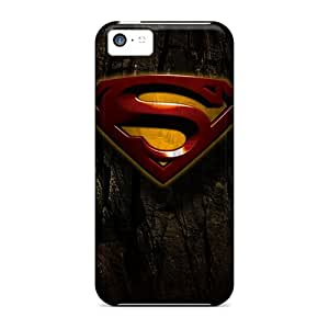Iphone 5c OPp2214nakT Unique Design Lifelike Superman Pictures Shock Absorption Hard Phone Case -Marycase88