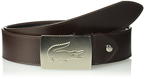 Lacoste Men's 40 Raw Edges, Rc1571 Accessory, -brown, 110 (Brown Lacoste Belt)