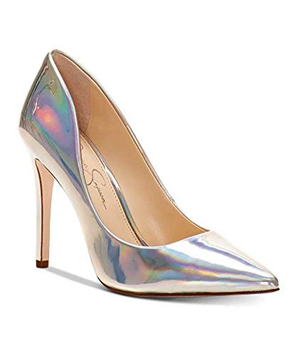 Jessica Simpson Cassani3 Iridescent Heeled Open Toe Platform Sandals (9.5) (Jessica Simpson Yellow Dress)