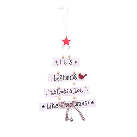 lameida christmas hanging signs christmas pendant christmas tree shape ornament for christmas decorations sale white