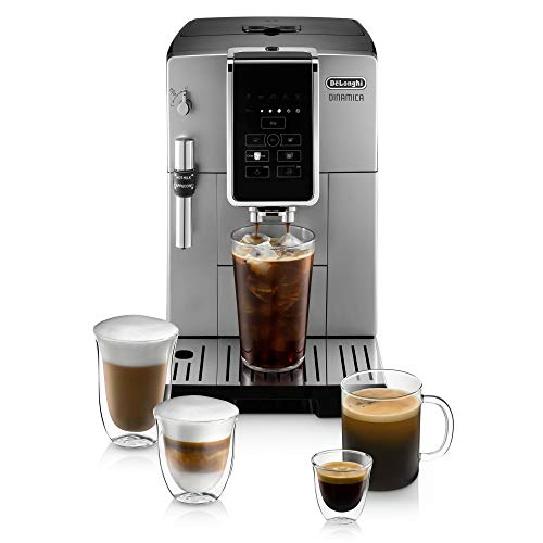 De'Longhi Stainless Steel Dinamica Coffee & Espresso Machine with Frother