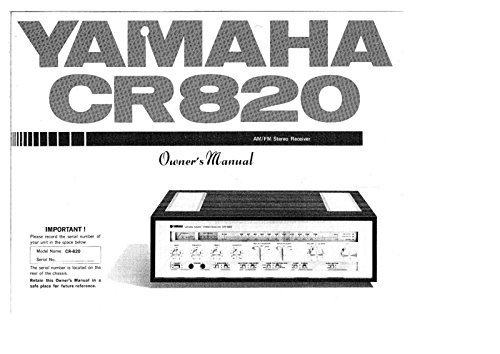 Yamaha CR-820 Receiver Owners Instruction Manual Reprint, used for sale  Delivered anywhere in USA