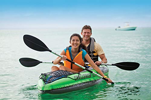 Price comparison product image Green Enjoy 2-Seat Barge Kayaking 2 People Boat with Pump,  Oars 30 Gauge Vinyl Strong Molecular Structure Comfort Inflatable I Beam Floor Streamline Design Kayak